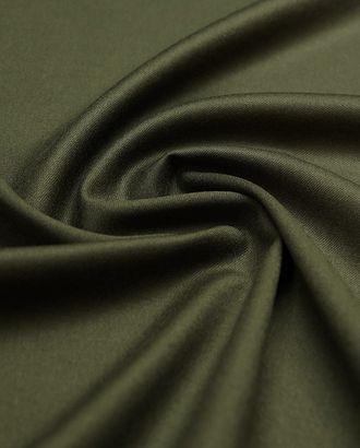 Костюмная шерстяная ткань цвет темно-еловый арт. ГТ-4786-1-ГТ-17-6375-1-10-1