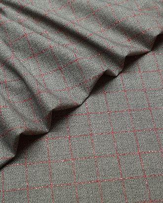 Костюмная ткань, серый меланж в красную клетку арт. ГТ-4827-1-ГТ-17-6464-4-21-3