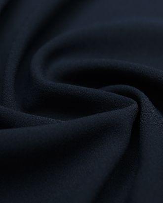 Креп костюмно-плательный темно-синего цвета арт. ГТ-4612-1-ГТ-18-6178-1-30-1