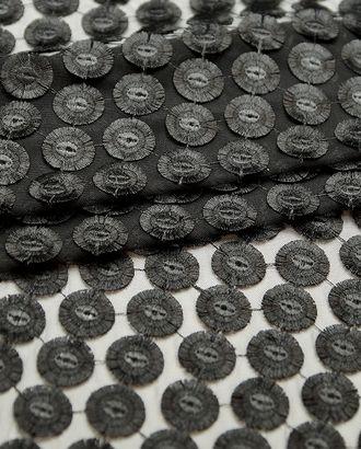 Кружево черного цвета, круги на сетке арт. ГТ-4620-1-ГТ-19-6188-14-38-1