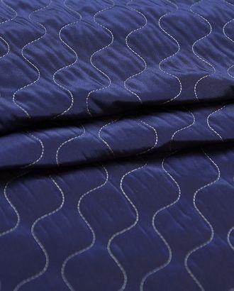 Курточная 2-х сторонняя стеганая ткань, цвет черно-синий арт. ГТ-4627-1-ГТ-20-6196-12-38-1