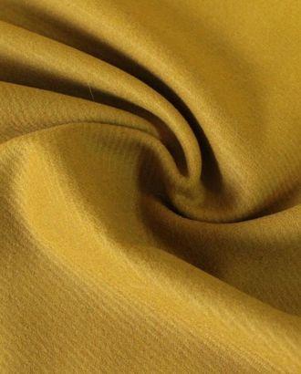Ткань шерстяная пальтовая, цвет горчичный в диагональный рубчик арт. ГТ-28-1-ГТ0020205