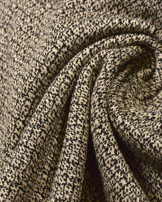 Ткань трикотаж, нежно-бежевый оттенок жаккарда с пятнистым узором арт. ГТ-53-1-ГТ0020320