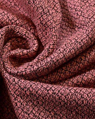 Розовый узорчатый жаккардовый трикотаж арт. ГТ-54-1-ГТ0020321
