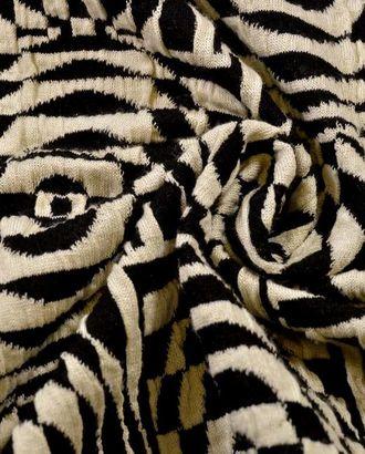 Вискозная трикотажная ткань, цвет: на молочном фоне геометрический рисунок арт. ГТ-55-1-ГТ0020329