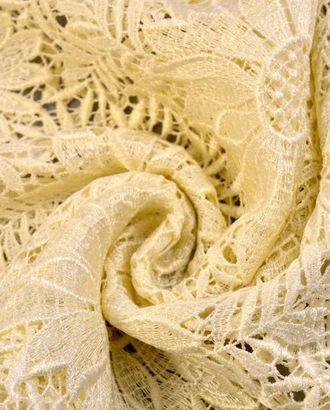Гипюр нежно-ванильного цвета с цветочным узором арт. ГТ-67-1-ГТ0020390