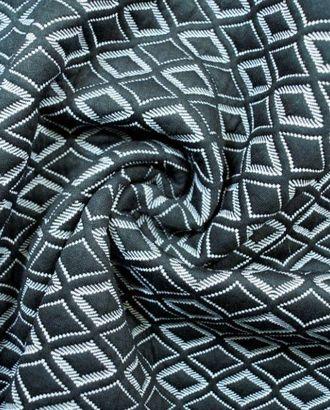 Ткань неопрен , цвет: на черном фоне изящные штриховые белые ромбики арт. ГТ-108-1-ГТ0020651