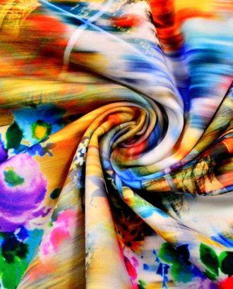 Ткань трикотаж плательный, цвет: разноцветная размытая акварель , вид из окна арт. ГТ-121-1-ГТ0020727