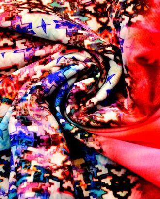 Ткань трикотаж плательный купонный, цвет: насыщенная мозаика с акварелью арт. ГТ-122-1-ГТ0020728
