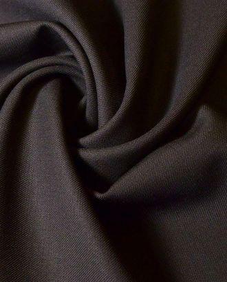 Ткань костюмная шерстяная, цвет: темно-коричневый арт. ГТ-170-1-ГТ0021066