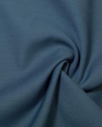 Ткань костюмная двухсторонняя синего цвета цв.76 арт. ГТ-178-1-ГТ0021103