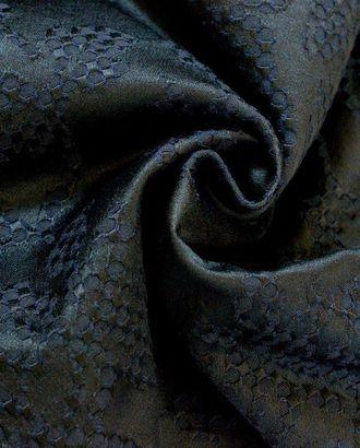 Ткань хлопковый жаккард экрю, цвет: берлинская лазурь арт. ГТ-195-1-ГТ0021255