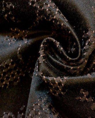 Ткань жаккард серого коричневого цвета с переплетением арт. ГТ-197-1-ГТ0021257