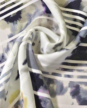 Ткань креп, цвет: шикарная серая желто-черная акварель, сверху белая полоска арт. ГТ-214-1-ГТ0021481