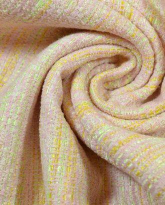 Ткань плательно-костюмная, цвет: на желто-салатовом нежно-розовое переплетение арт. ГТ-246-1-ГТ0021533