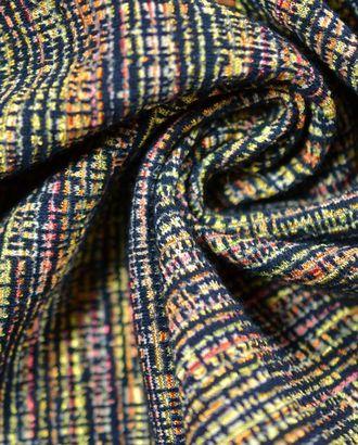 Ткань плательно-костюмная, цвет: на желто-красном черное переплетение арт. ГТ-248-1-ГТ0021537
