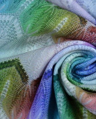 Ткань трикотажная плательная, цвет: имитация цветного гипюра арт. ГТ-274-1-ГТ0021596