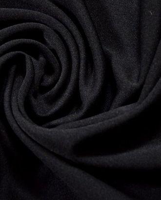 Ткань подкладочная, тонкая трикотажная, цвет черный арт. ГТ-301-1-ГТ0021663