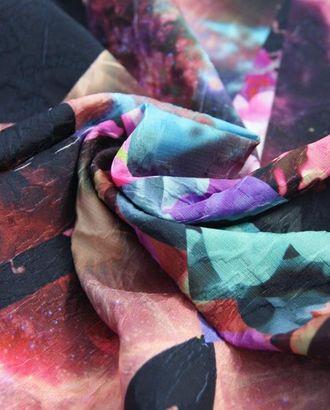 Ткань жаккард, цвет: лоскутный принт в фиолетово-розовый арт. ГТ-312-1-ГТ0021711