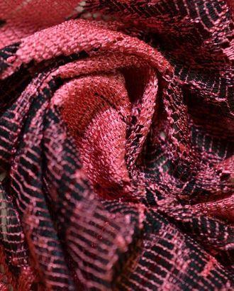 Ткань гипюр, цвет черно-коралловый арт. ГТ-366-1-ГТ0021810