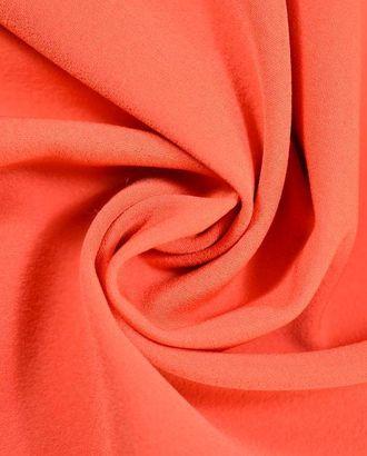 Креповая костюмная ткань, оранжевый апельсин арт. ГТ-380-1-ГТ0021849