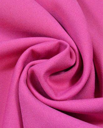 Ткань костюмная креповая, цветок фуксии арт. ГТ-385-1-ГТ0021857