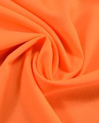 Ткань креп цвет ярко оранжевый арт. ГТ-386-1-ГТ0021859