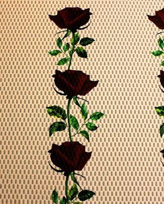 Ткань неопрен DIGI, цвет: на нежно-розовом фоне темно-бордовые розы арт. ГТ-392-1-ГТ0021868