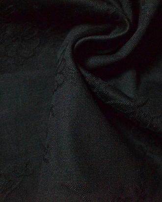 Ткань костюмная хлопковая, цвет: на черном фоне ажурные цветы арт. ГТ-408-1-ГТ0021896