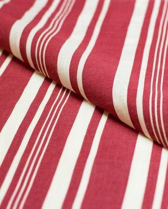 Лен в красно-белую полоску арт. ГТ-4406-1-ГТ-22-5893-3-21-1