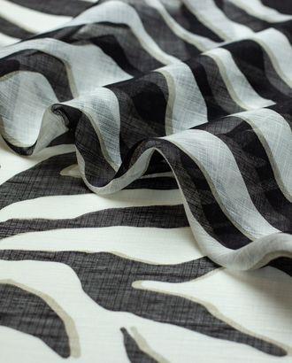 Лен с принтом зебра арт. ГТ-4409-1-ГТ-22-5896-2-21-1