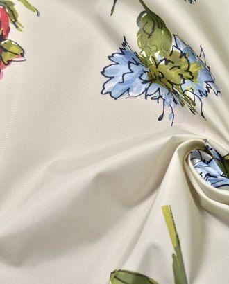 Ткань плащевая, цвет: на молочном фоне полевые цветочки арт. ГТ-465-1-ГТ0022960