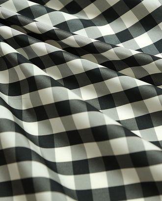 Ткань плащевая в черно-белую клетку арт. ГТ-469-1-ГТ0022973