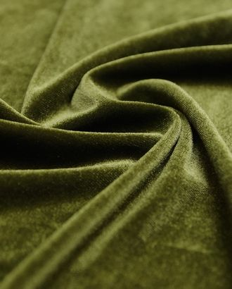 Бархат темно-оливкового цвета арт. ГТ-3459-1-ГТ0000022