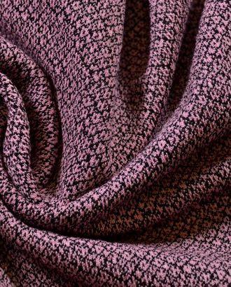 Трикотажная ткань, цвет: на нежно-розовом фоне изящная черная сеточка арт. ГТ-497-1-ГТ0023020