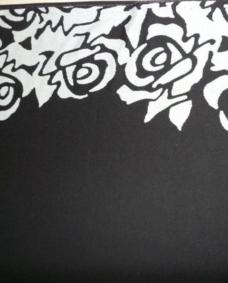 Ткань трикотаж, цвет: бежевые цветы на фоне ночного неба арт. ГТ-524-1-ГТ0023085