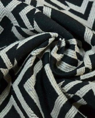 Ткань жаккард, цвет: на молочном фоне черная геометрия арт. ГТ-530-1-ГТ0023099