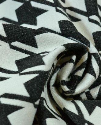 Ткань трикотажная, цвет: черно-белая гусиная лапка арт. ГТ-533-1-ГТ0023107