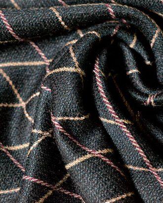 Ткань трикотажная, цвет: на шоколадном фоне бордово-коричневые ромбы арт. ГТ-553-1-ГТ0023162
