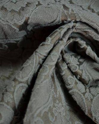 Ткань жаккард серо-коричневый с орнаментными вензелями арт. ГТ-607-1-ГТ0023462