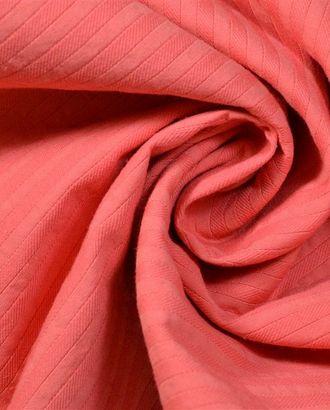 Ткань жаккард однотонный кораллового цвета арт. ГТ-609-1-ГТ0023478