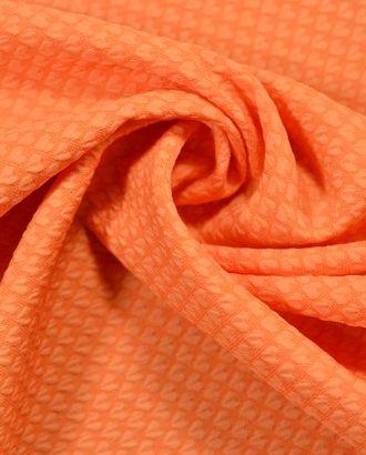 Ткань жаккард однотонный, цвет: тыквенный арт. ГТ-610-1-ГТ0023479