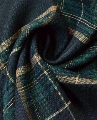 Двухсторонняя костюмная ткань в клетку черного и зеленого цвета арт. ГТ-616-1-ГТ0023511