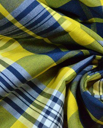 Ткань хлопок, цвет: желто-синяя клетка арт. ГТ-634-1-ГТ0023761