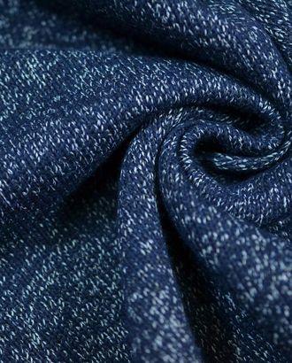 Ткань трикотаж, цвет: темно-синий меланж с серебристыми вкраплениями арт. ГТ-651-1-ГТ0023852