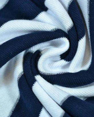 Ткань трикотаж, цвет: темно-синяя и белая полоска арт. ГТ-652-1-ГТ0023853
