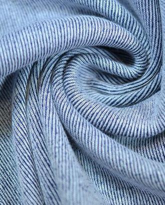 Ткань трикотаж, бело-синий меланж арт. ГТ-657-1-ГТ0023858