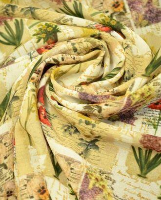 Ткань вискозная с расцветкой в стиле прованс арт. ГТ-694-1-ГТ0024068