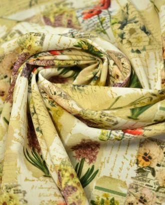 Ткань креп, цветочный сельский авангард арт. ГТ-695-1-ГТ0024071