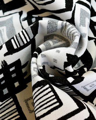 Ткань костюмная с геометрическим принтом в серых тонах. арт. ГТ-704-1-ГТ0024183